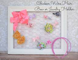 bow holder chicken wire hair bow holder or jewelry holder with fabric backing