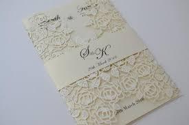 beautiful wedding invitations laser cut wedding invitations ivory laser cut wedding invitation