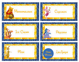 free winnie pooh food labels parisya food