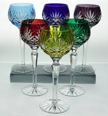 crystal wine glasses high end wine glass handmade and handcut of cased lead crystal