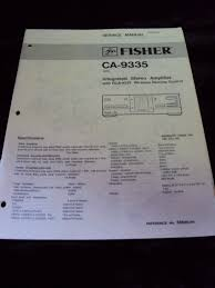 rca remote manual original fisher ca 9335 integrated stereo amplifier amp rca 9335