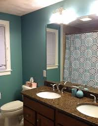 paint for bathroom bathroom blue wall paint white subway