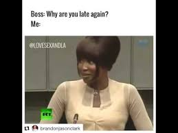 Naomi Meme - naomi cbell vs the boss why are you late again youtube