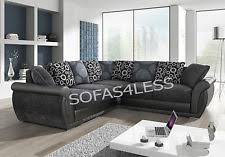 Large Black Leather Corner Sofa Leather Corner Sofa Ebay