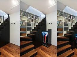 wood staircase medium hard stairs pullout closet interior