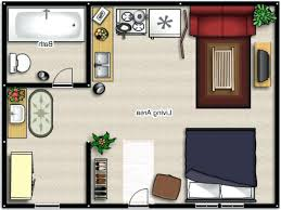 studio apartment floor plans small efficiency laferida com