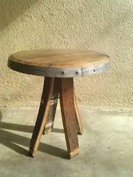 Barrel Side Table Weldwood Furniture Now Offers Custom Handmade Wine Barrel Side