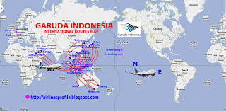 Air France Route Map by International Flights Garuda Indonesia Route Map