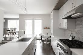 Interior French Doors Toronto - toronto white kitchen backsplash contemporary with dining table