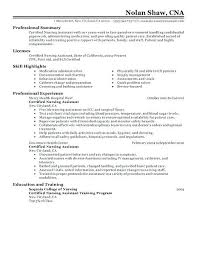 resume summary of qualifications for a cna resume nursing assistant resume template