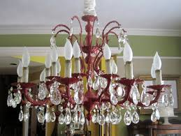 Red Chandelier by Antique Spray Painted Chandelier Mommy Is Coo Coo