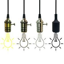 Retro Pendant Lights Hanging Light Bulb Cord Home Depot Walmart Screw Bulbs Retro
