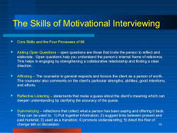 Counseling Interviewing Skills Motivational Interviewing