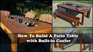 how to build a patio table with built in cooler