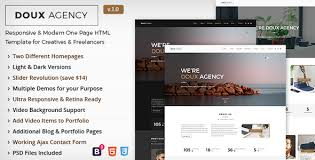 doux creative one page html template by habaza themeforest
