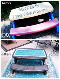fisher price childrens picnic table plastic picnic table makeoverdiy show off diy decorating and