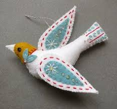 scandinavian felt birds beautiful felt crafts loving the