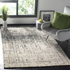 Midcentury Modern Rug Safavieh Retro Mid Century Modern Abstract Black Light Grey