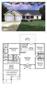 2 Bedroom Ranch Floor Plans by 16 Best Ranch House Plans Images On Pinterest Cool House Plans