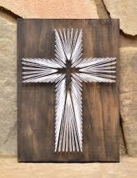 Religious Home Decor Custom Wood Cross Religious String Art Home Decor By Hwstringart