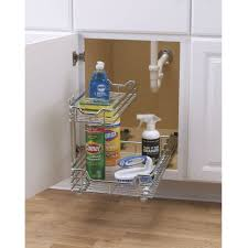 Bathroom Vanity Pull Out Shelves by Bathroom Storage Cabinet Organizer Under Sink With White Metal F