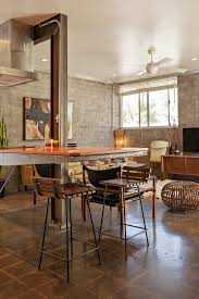 apartment therapy kitchen island warm industrial style meets vintage in an arizona condo warm