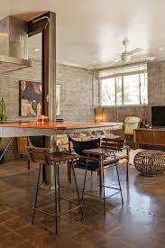 warm industrial style meets vintage in an arizona condo warm