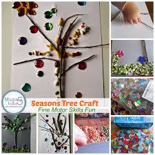seasons tree craft collage