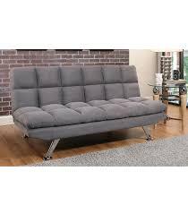futons clarence grey fabric euro lounger