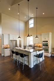 pendant lighting for kitchens old mill lane kitchen l shaped breakfast bar high ceilings