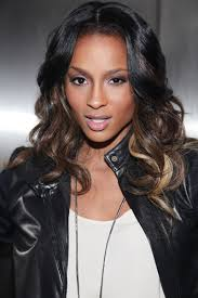 weave hairstyles with middle part ciara s middle part full weave with ombre love yourself love