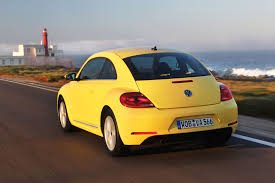 volkswagen yellow 2012 yellow rush volkswagen beetle rear view eurocar news