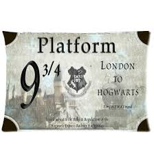 home decor custom harry potter hogwarts train ticket pillowcase