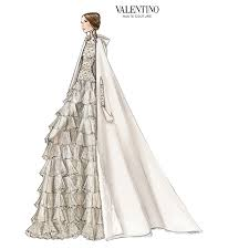 valentino u0027s sketch for tatiana santo domingo u0027s wedding dress