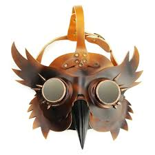 plague doctor masquerade mask online shop gold leather rivet plague doctor bird beak