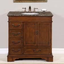 36 u201d bathroom vanity single sink cabinet english chestnut