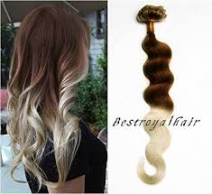 hair styles brown on botton and blond on top pictures of it chocolate brown to platinum blonde two colors ombre hair extension