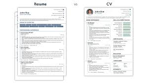 what is resume cv vs resume what is the difference exles