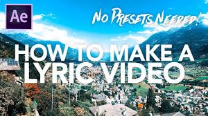 tutorial kinetic typography after effects how to make a lyric video in after effects kinetic typography