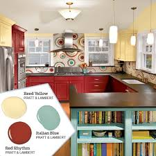 colorful kitchens ideas stunning kitchen color schemes and yellow 26 for with kitchen