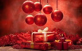 snow ornaments presents decorations candles
