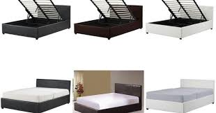 details about 4ft small double ottoman storage bed black brown