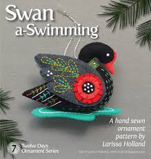 mmmcrafts twelve days ornament series swan a swimming fun