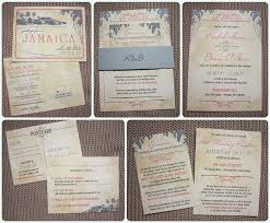 wedding invitations island gray coral palm tree island antique belly band wedding