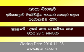boc bank vacancies closing date 2016 11 28 iqlanka