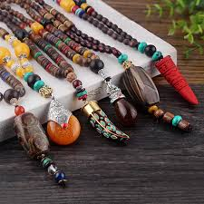 natural stone beads necklace images Beads necklace natural stone pendant justlivehappylife jpg