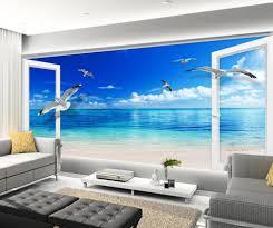 online get cheap 3d wallpaper murale window aliexpress com mural 3d wallpaper 3d wall papers for tv backdrop blue sky window 3d wallpaper mural home