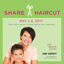 may share a haircut campaign to support victims of domestic violence
