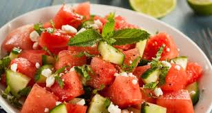 mediterranean watermelon salad recipe by vicky ratnani ndtv food
