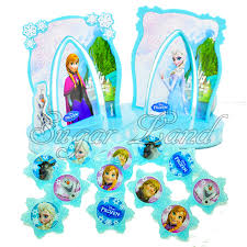 16 pcs Disney Frozen Cake Decorating Supplies Kit topper